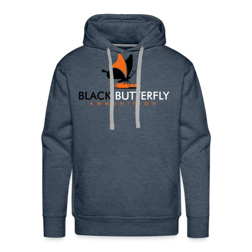 Black Butterfly Floating Logo - Men's Premium Hoodie