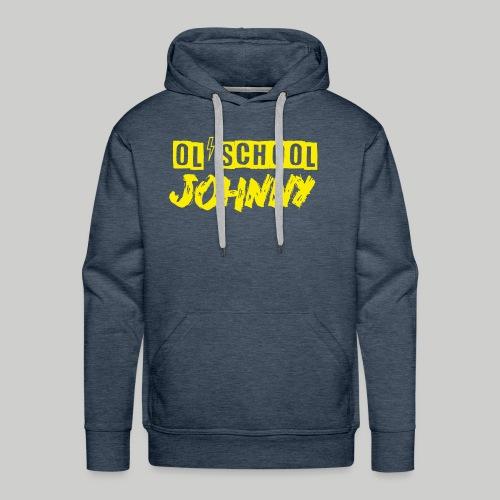 Ol' School Johnny Logo in Yellow - Men's Premium Hoodie