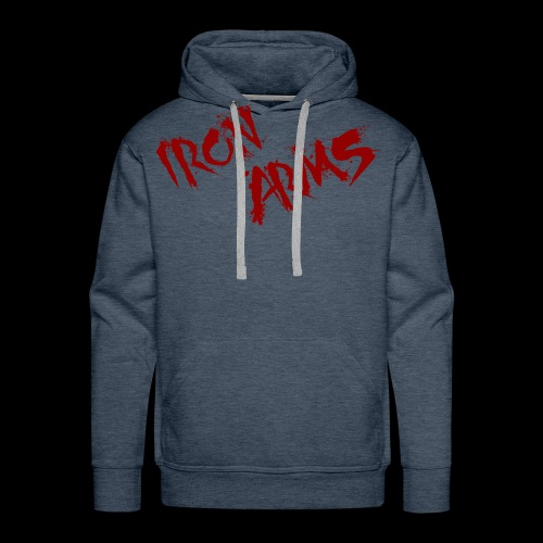 The Iron Arms Blood Splatter Logo - Men's Premium Hoodie