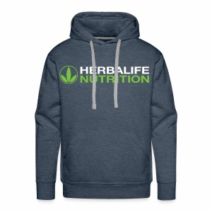 White and Green HL Logo - Men's Premium Hoodie