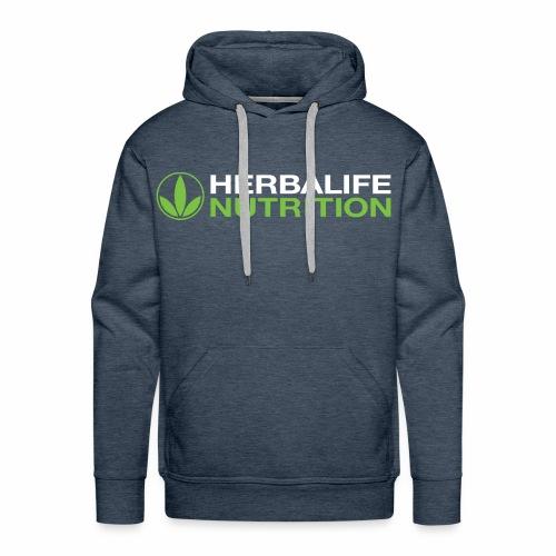 White and Green HL Logo - Men's Premium Hoodie