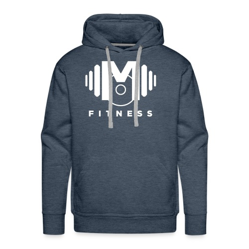 Mo Fitness - White - Men's Premium Hoodie