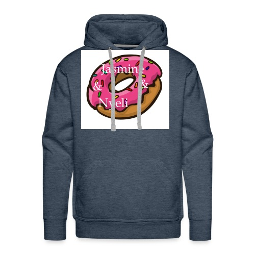 A cute donut W/ our channel name - Men's Premium Hoodie