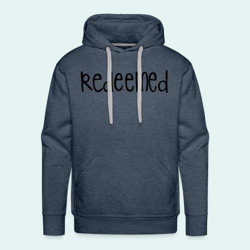 Handwritten REDEEMED Design - Men's Premium Hoodie