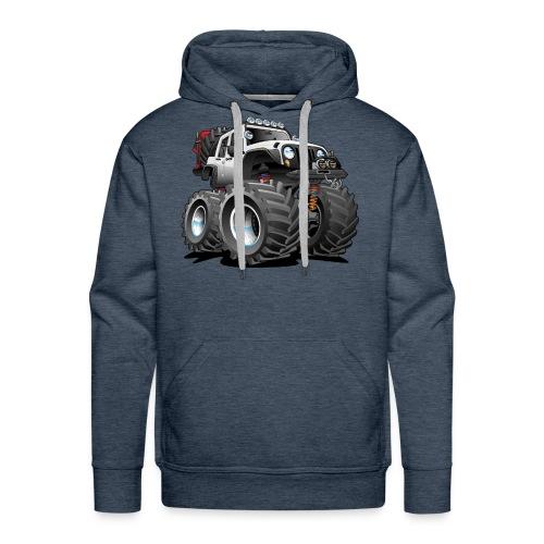 Off road 4x4 white jeeper cartoon - Men's Premium Hoodie