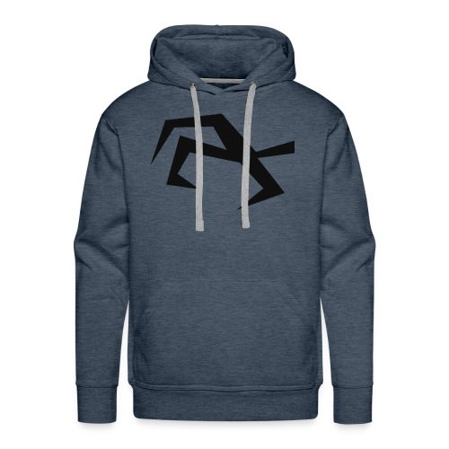 Bird Hand black - Men's Premium Hoodie