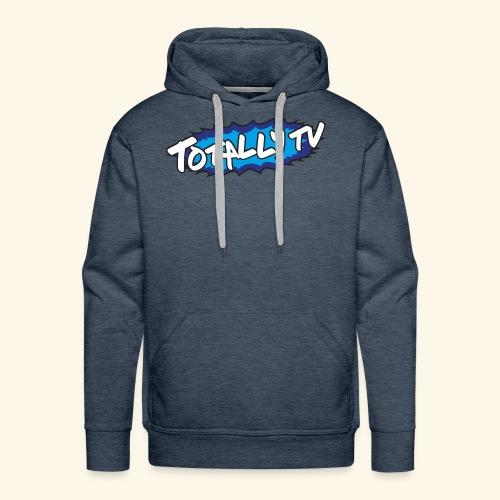 Totally TV Burst Logo Blue on Blue - Men's Premium Hoodie