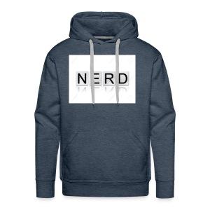 66188244 The word Nerd written in tile letters iso - Men's Premium Hoodie