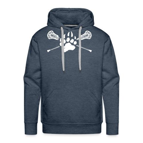 Kodiak Lacrosse Paw Stick 2018 WHITE - Men's Premium Hoodie
