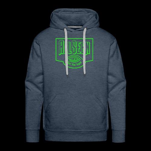 Green AllSeen Logo - Men's Premium Hoodie