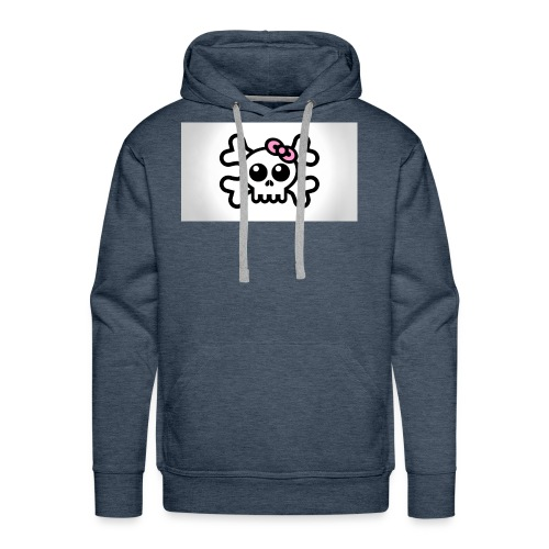 skull bow drawing 85690 1920x1080 - Men's Premium Hoodie
