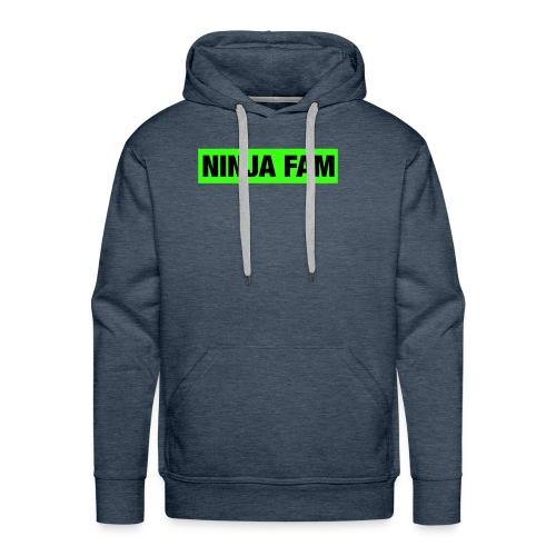 ninja fam box logo - Men's Premium Hoodie