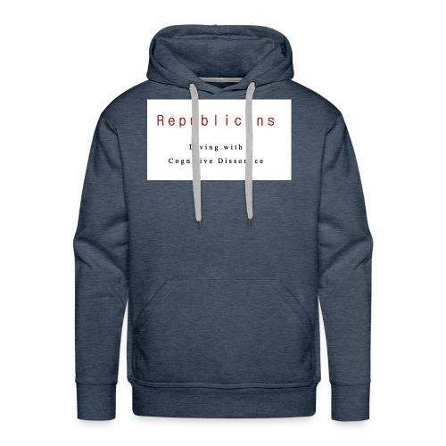 Liberal T-Shirt Republican Cognitive Dissonance - Men's Premium Hoodie