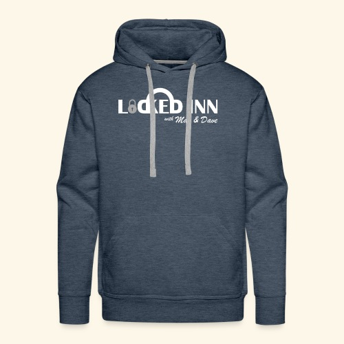 locked inn logo white - Men's Premium Hoodie