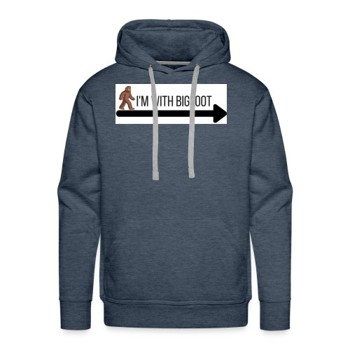 I'm With Bigfoot - Men's Premium Hoodie
