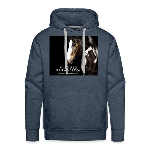 vieques island paradise horse poster - Men's Premium Hoodie
