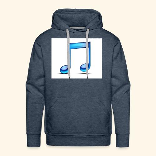 music note icon - Men's Premium Hoodie