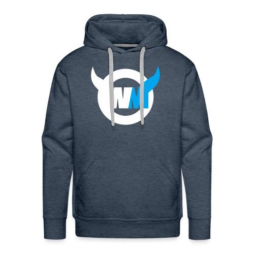 WTFMoses Logo white/blue - Men's Premium Hoodie