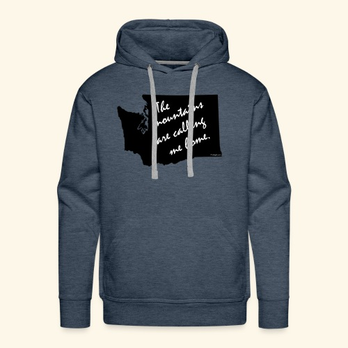 Washington mountains - Men's Premium Hoodie