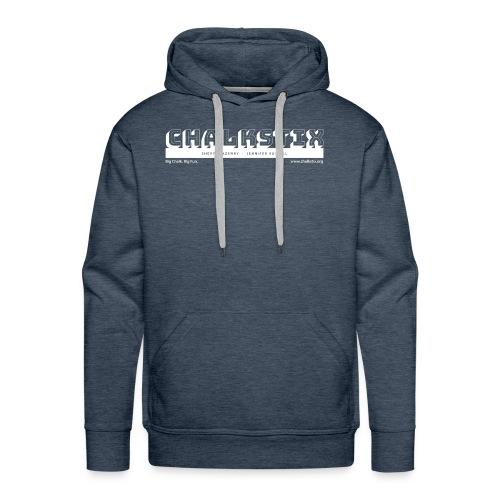 chalkstix logo WHITE - Men's Premium Hoodie