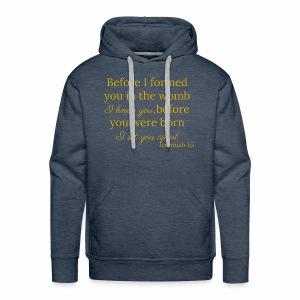 Jeremiah 1:5 Gold - Men's Premium Hoodie