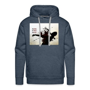 Grisly Crime Scene man shot - Men's Premium Hoodie