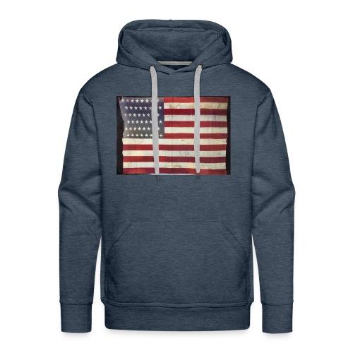 Distressed American Flag - Men's Premium Hoodie