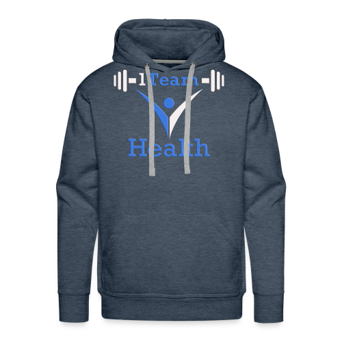 1TH - Blue and White - Men's Premium Hoodie