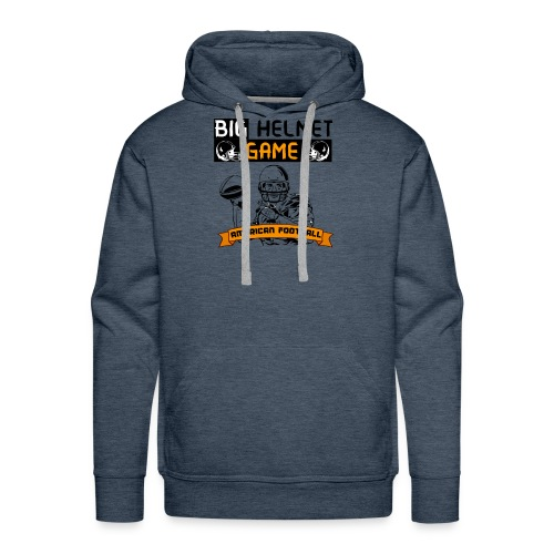 BIG HELMET GAME AMERICAN FOOTBALL NFL - Men's Premium Hoodie