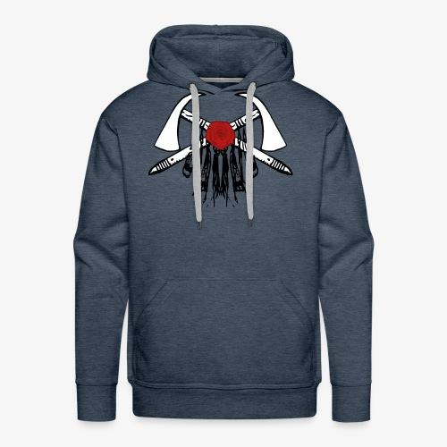 Komankhe Klan Logo T-Shirt (WHITE TOMOHAWKS) - Men's Premium Hoodie