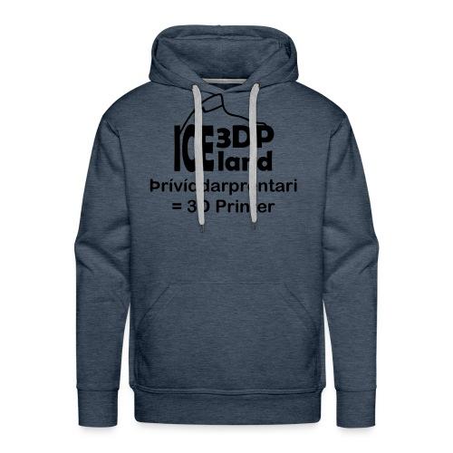 3DP Iceland 3D Printer - Men's Premium Hoodie