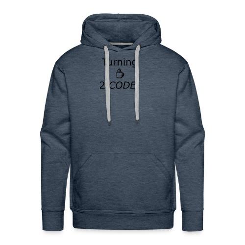 turning coffee to code - Men's Premium Hoodie