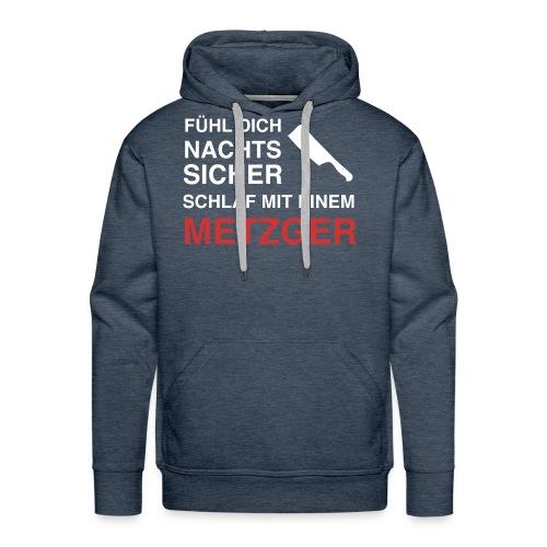 schlafmiteinemmetzger2 - Men's Premium Hoodie