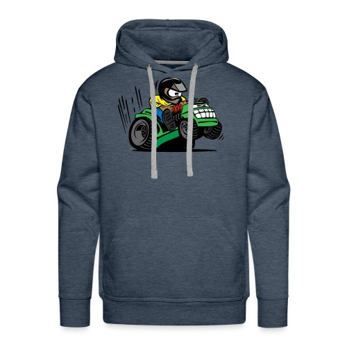 Racing Lawn Mower Cartoon - Men's Premium Hoodie
