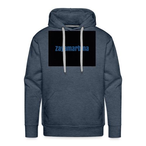Zayamarbina bule and black t-shirt - Men's Premium Hoodie