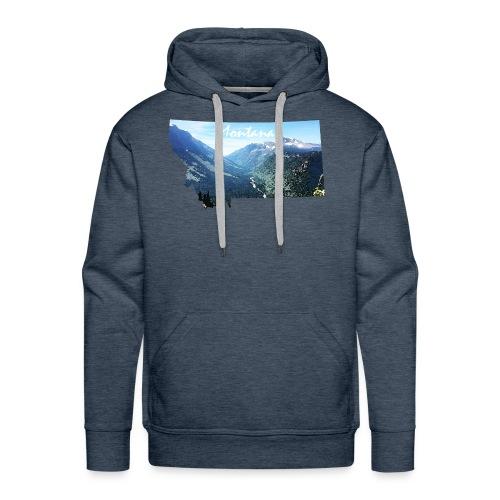 Montana Watercolor Mountains - Men's Premium Hoodie