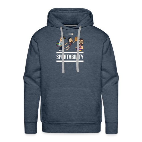 Spurtability White Text - Men's Premium Hoodie