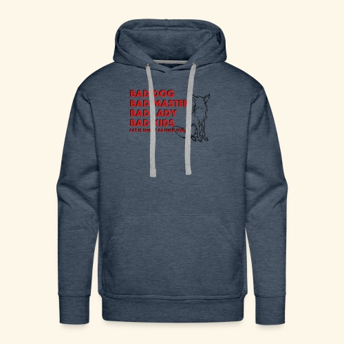 Truth about family and animals in bad, funny way - Men's Premium Hoodie