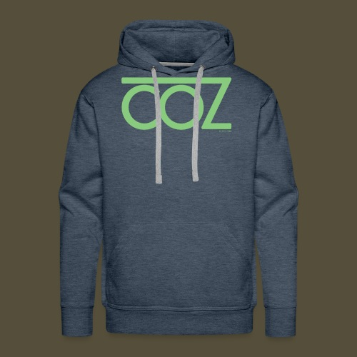coz_logo_lightgreen - Men's Premium Hoodie