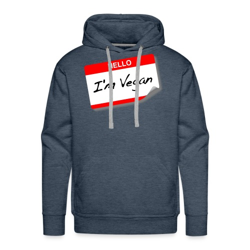 hello I'm vegan - Men's Premium Hoodie