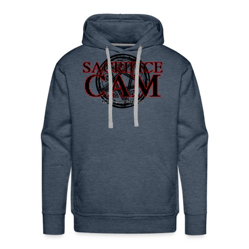Sacrifice Cam Logo (Red outlines) - Men's Premium Hoodie
