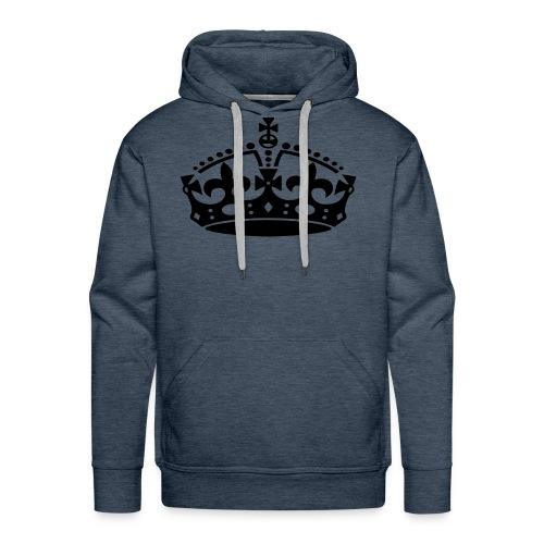 KEEP CALM CROWN - Men's Premium Hoodie
