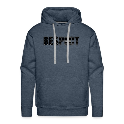 Respect Black and White flag - Men's Premium Hoodie