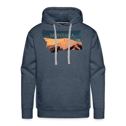 Swan Mountain Range Watercolor - Men's Premium Hoodie
