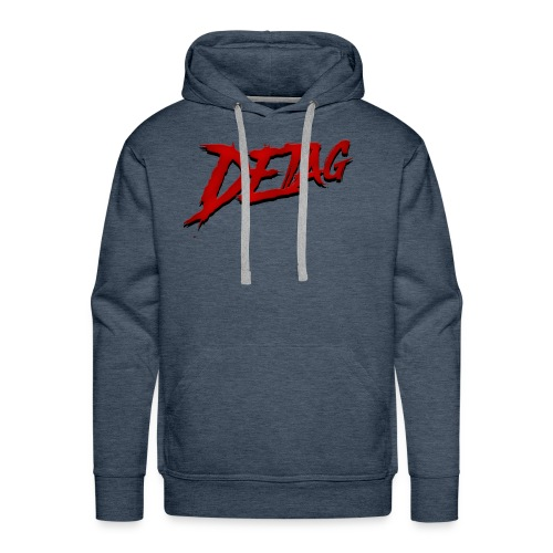 DETAG LOGO RED BLACK - Men's Premium Hoodie