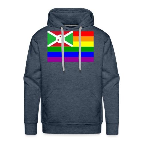 burundirainbowflag - Men's Premium Hoodie