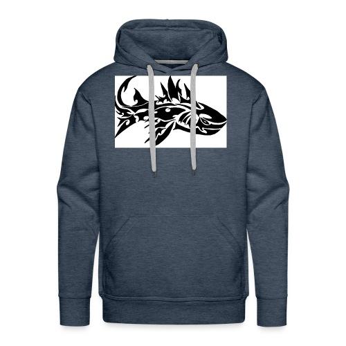 tribal shark2 - Men's Premium Hoodie