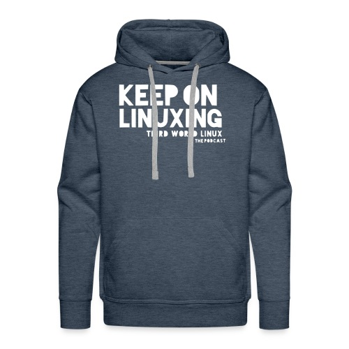 Keep on Linuxing - Men's Premium Hoodie