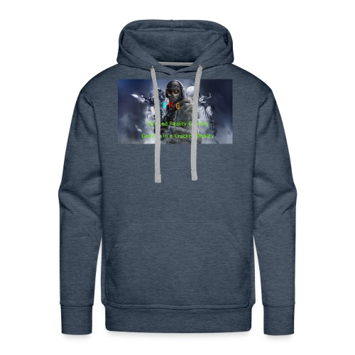 Cracked Reality Gaming Logo - Men's Premium Hoodie