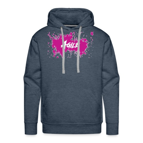 AgileNation Splatter Design - Men's Premium Hoodie